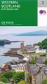 Wegenkaart - landkaart 2 OS Road Map Western Scotland & the Western Isles | Ordnance Survey