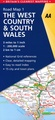 Wegenkaart - landkaart 1 Road Map Britain The West Country and South Wales  | AA