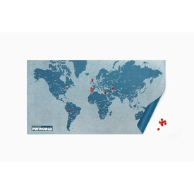 Wereldkaart Pin world wall map - pin wereldkaart blauw small | Palomar