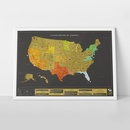Scratch Map United States of America USA deluxe | Luckies