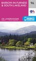 Wandelkaart - Topografische kaart 096 Landranger Barrow-in-Furness & South Lakeland Lake District | Ordnance Survey