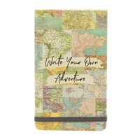 Vintage Map Collage Flip Notebook
