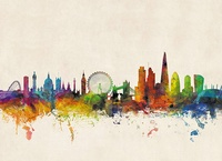 London City Skyline – Londen, 84 x 59 cm